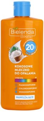 Bielenda Bikini Coconut зволожуюче молочко для засмаги SPF 20
