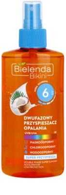 Bielenda Bikini Coconut spray de ulei de bifazic pentru a accelera arsurile solare SPF 6