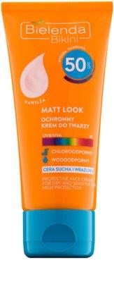 Bielenda Bikini Matt Look ochranný matující krém pro suchou a citlivou pleť SPF 50