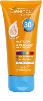 Bielenda Bikini Matt Look Crema de protecție pentru tenul gras si combinat SPF 30