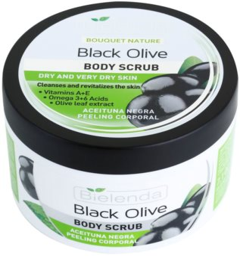 Bielenda Black Olive Körperpeeling für trockene und sehr trockene Haut