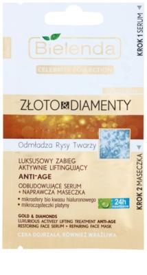 Bielenda Celebrity Collection Gold & Diamonds komplexe verjüngende Pflege für reife Haut