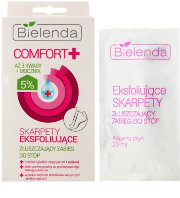 Bielenda Comfort+ exfoliační ponožky pro zjemnění a hydrataci pokožky nohou 2