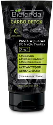 Bielenda Carbo Detox pasta oczyszczająca z aktywnym węglem 3 w 1