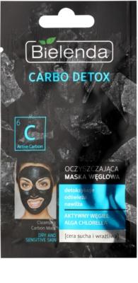 Bielenda Carbo Detox čisticí maska s aktivním uhlím pro suchou až citlivou pleť