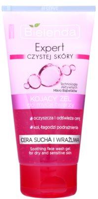 Bielenda Expert Pure Skin Soothing gel de limpeza para pele seca e sensível