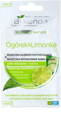 Bielenda Cucumber&Lime Reinigungsmaske mit feuchtigkeitsspendender Wirkung