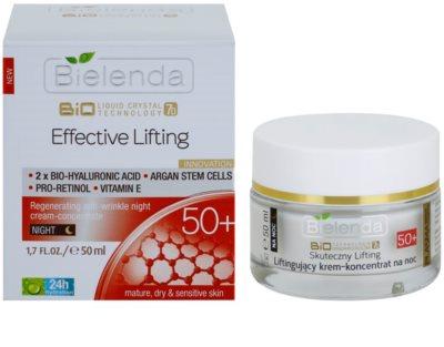 Bielenda Effective Lifting regenerierende Nachtcreme gegen Falten 1