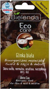 Bielenda Eco Care White Clay bioorganická maska na obličej, krk a dekolt