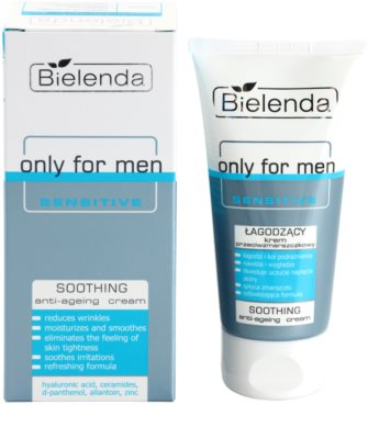 Bielenda Only for Men Sensitive creme apaziguador antirrugas 1