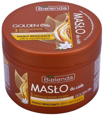 Bielenda Golden Oils Ultra Hydration Body-Selbstbräunerbutter mit feuchtigkeitsspendender Wirkung