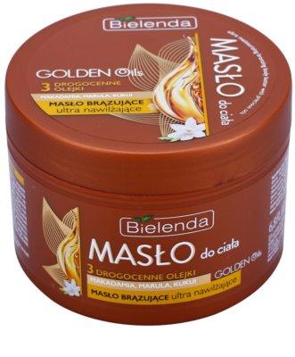 Bielenda Golden Oils Ultra Hydration manteiga autobronzeadora corporal com efeito hidratante