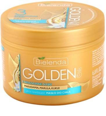 Bielenda Golden Oils Ultra Hydration masło do ciała o intensywnym działaniu o dzłałaniu nawilżającym
