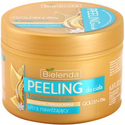 Bielenda Golden Oils Ultra Hydration peeling corporal  com efeito hidratante