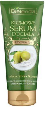 Bielenda Green Olive & Yoghurt Creme-Serum für den Körper mit regenerierender Wirkung
