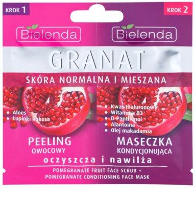 Bielenda Pomergranate пілінг та маска для інтенсивного зволоження