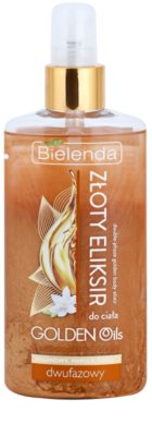 Bielenda Golden Oils Ultra Nourishing óleo bifásico para o corpo com glitter