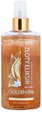Bielenda Golden Oils Ultra Nourishing Zwei-Phasen Körperöl mit Glitzerteilchen