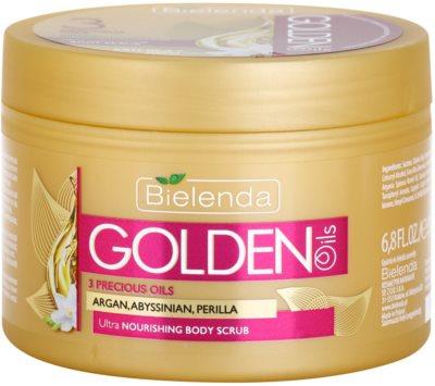 Bielenda Golden Oils Ultra Nourishing piling za telo za suho kožo
