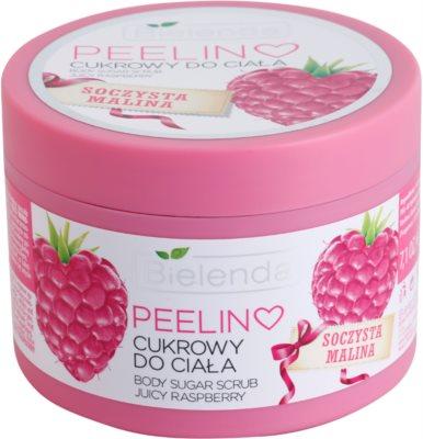 Bielenda Juicy Raspberry peeling corporal com açúcar
