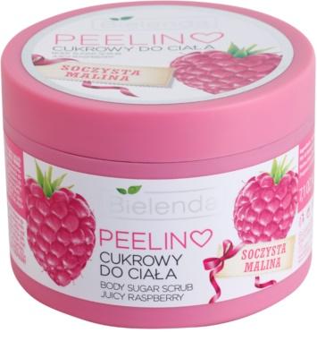 Bielenda Juicy Raspberry tělový peeling s cukrem