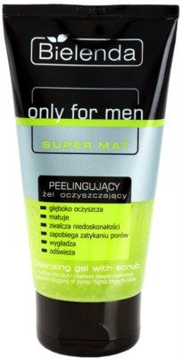 Bielenda Only for Men Super Mat exfoliante de limpeza em gel para pele oleosa