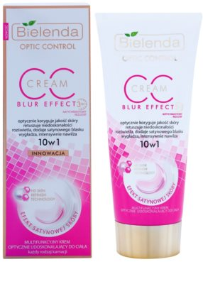 Bielenda Optic Control Blur Effect CC krém na tělo  pro rozjasňení a hydrataci 1