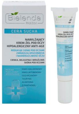 Bielenda Pharm Dry Skin creme de olhos gelatinoso antirrugas 1