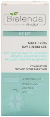 Bielenda Pharm Acne Tages-Gelcreme mit mattierendem Effekt 2