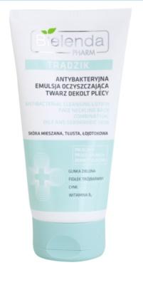 Bielenda Pharm Acne gel de limpeza antibacteriano para o rosto, decote e costas antiacne