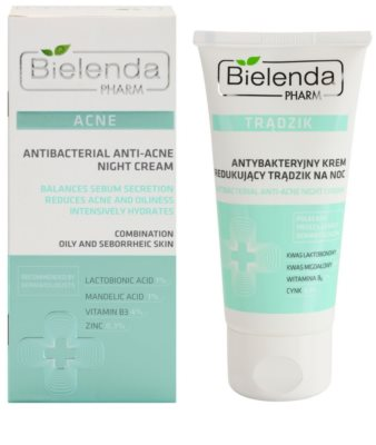 Bielenda Pharm Acne creme de noite contra imperfeições de pele acneica 1