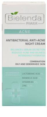 Bielenda Pharm Acne creme de noite contra imperfeições de pele acneica 2