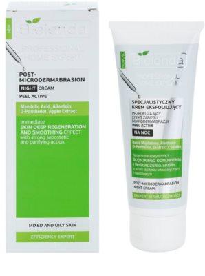 Bielenda Professional Home Expert Peel Active нічний крем для шкіри висушеної та подразненої лікуванням акне 1