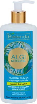 Bielenda Sea Algae Moisturizing óleo corporal leitoso com efeito alisador