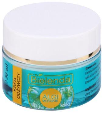 Bielenda Sea Algae Nourishing creme gel nutritivo iluminador