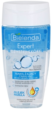 Bielenda Expert Pure Skin Moisturizing removedor de maquilhagem bifásico para contornos dos olhos e lábios