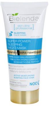 Bielenda Skin Clinic Professional Moisturizing feuchtigkeitsspendende Maske für die Nacht für trockene Haut