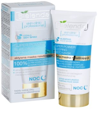 Bielenda Skin Clinic Professional Moisturizing noční hydratační maska pro suchou pleť 2