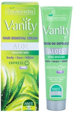 Bielenda Vanity Aloe Enthaarungscreme für empfindliche Oberhaut 1