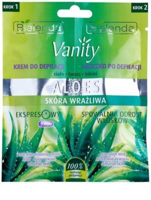 Bielenda Vanity Aloe крем для депіляції + заспокоююче молочко для чутливої шкіри