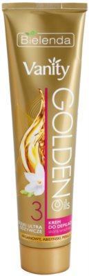 Bielenda Vanity Golden Oils creme depilatório para pele sensível
