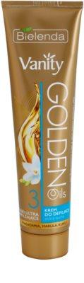 Bielenda Vanity Golden Oils creme depilatório para pele seca