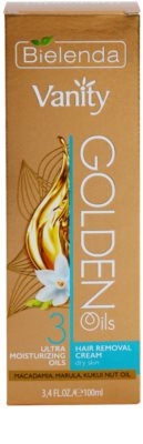 Bielenda Vanity Golden Oils creme depilatório para pele seca 3