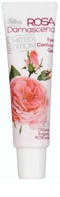 Bilka Rosa Damascena gel de olhos adstringente e regularizador com água de rosas