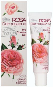 Bilka Rosa Damascena gel de olhos adstringente e regularizador com água de rosas 1