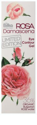 Bilka Rosa Damascena gel de olhos adstringente e regularizador com água de rosas 2