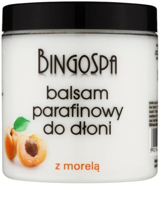 BingoSpa Apricot paraffinos balzsam kézre