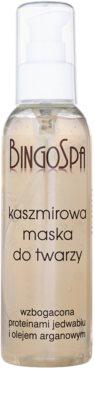 BingoSpa Cashmere máscara facial com proteínas de seda e óleo de argão