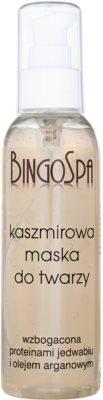 BingoSpa Cashmere Maske für das Gesicht mit Seidenproteinen und Arganöl