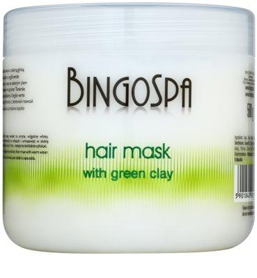 BingoSpa Green Clay máscara para cabelo